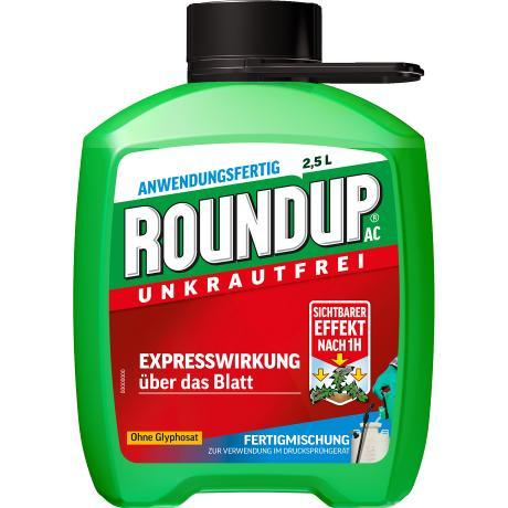 Roundup AC Unkrautfrei Unkrautvernichter Bekämpfung von Unkräutern Gräser 2,5 l
