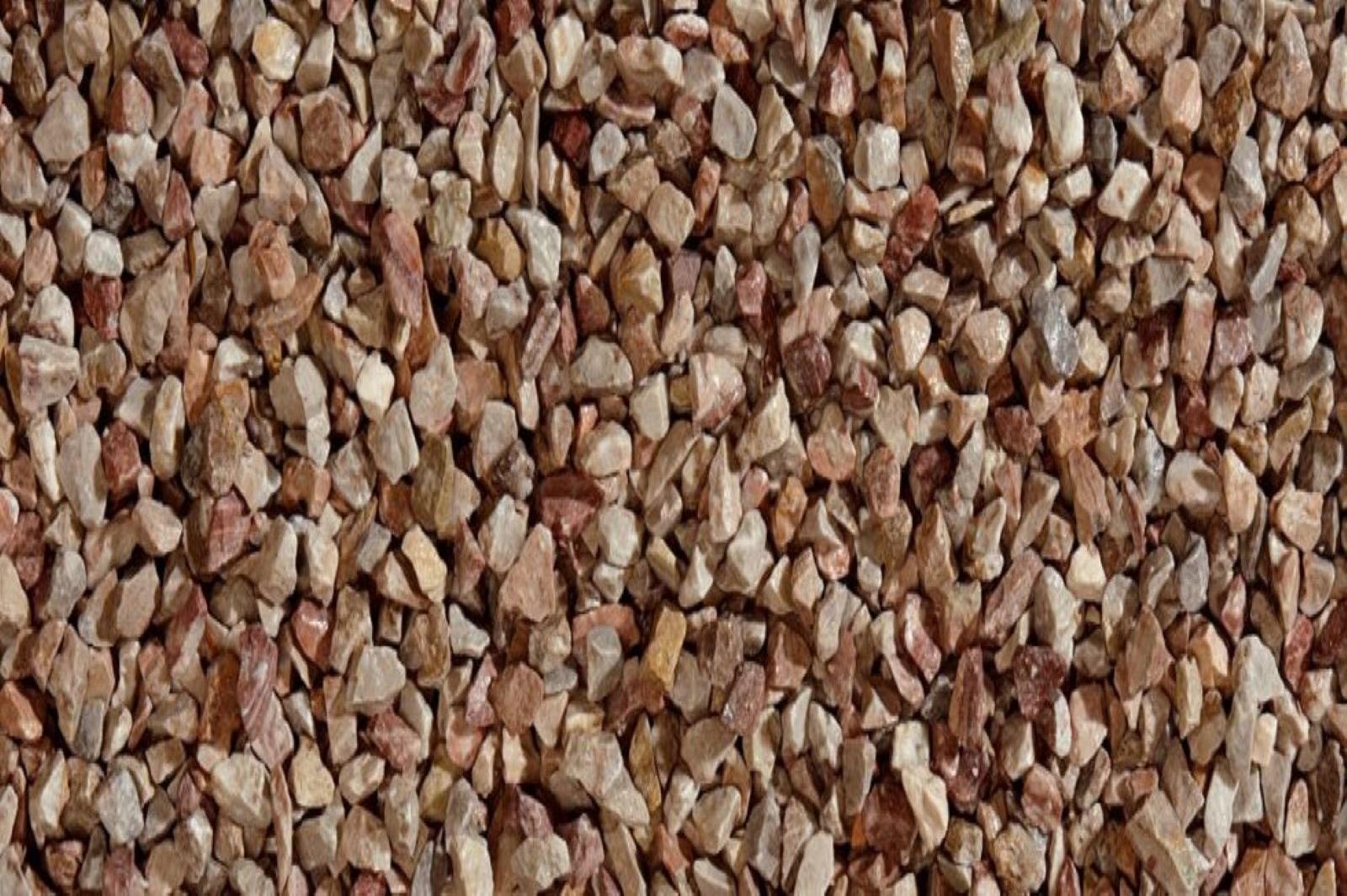Gartensplitt Ziersplitt Arabescato Granulat Marmor grau-rotbraun  12-16 mm 25 kg