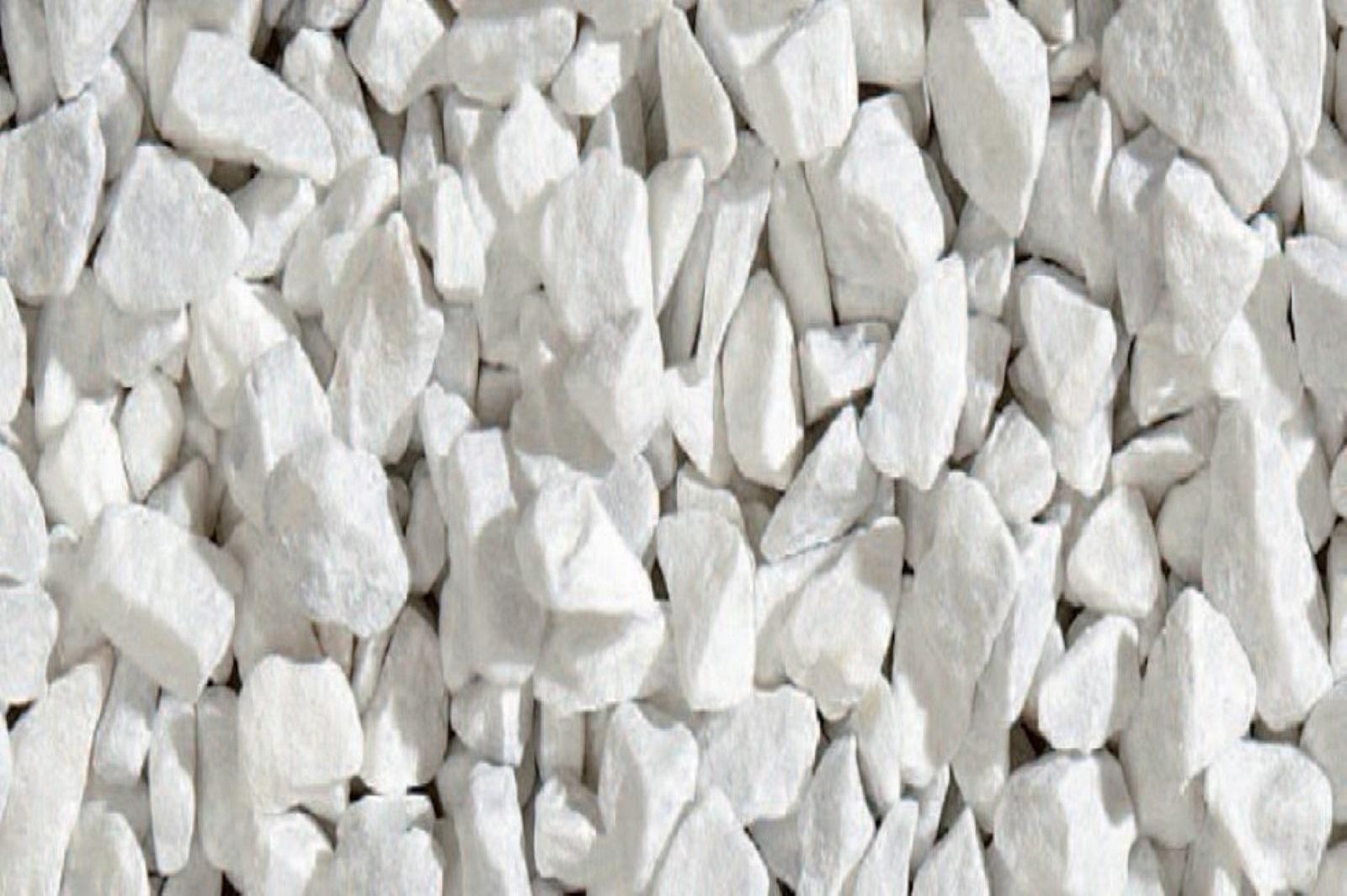 Gartensplitt Ziersplitt Bianco Carrara Granulat Marmor weiß 8 - 12 mm 25 kg