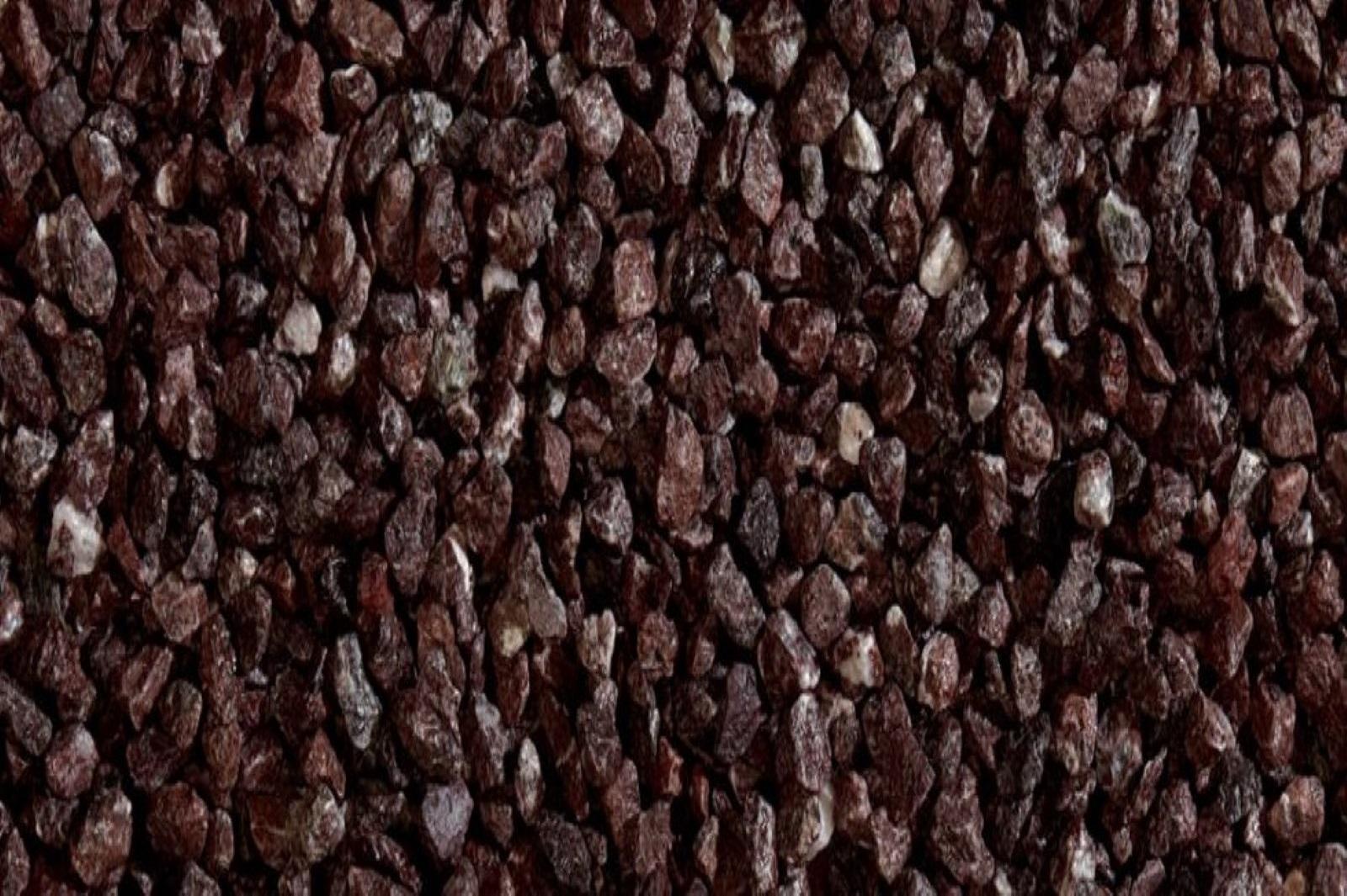 Gartensplitt Ziersplitt Porfido Rosso Granulat  dunkelrot 12-16 mm 25 kg