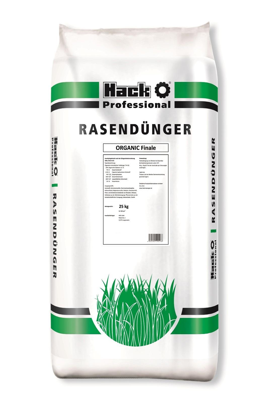 Hack Profi  Rasendünger Organic Finale 25 kg  für Golfrasen und Sportflächen
