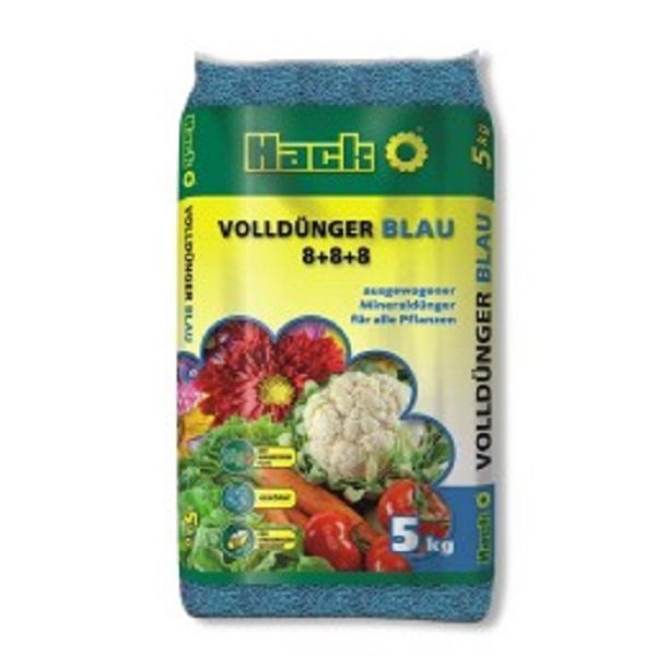 Hack Blaudünger Spezial Universaldünger Obst und Gemüsedünger 5 kg Beutel
