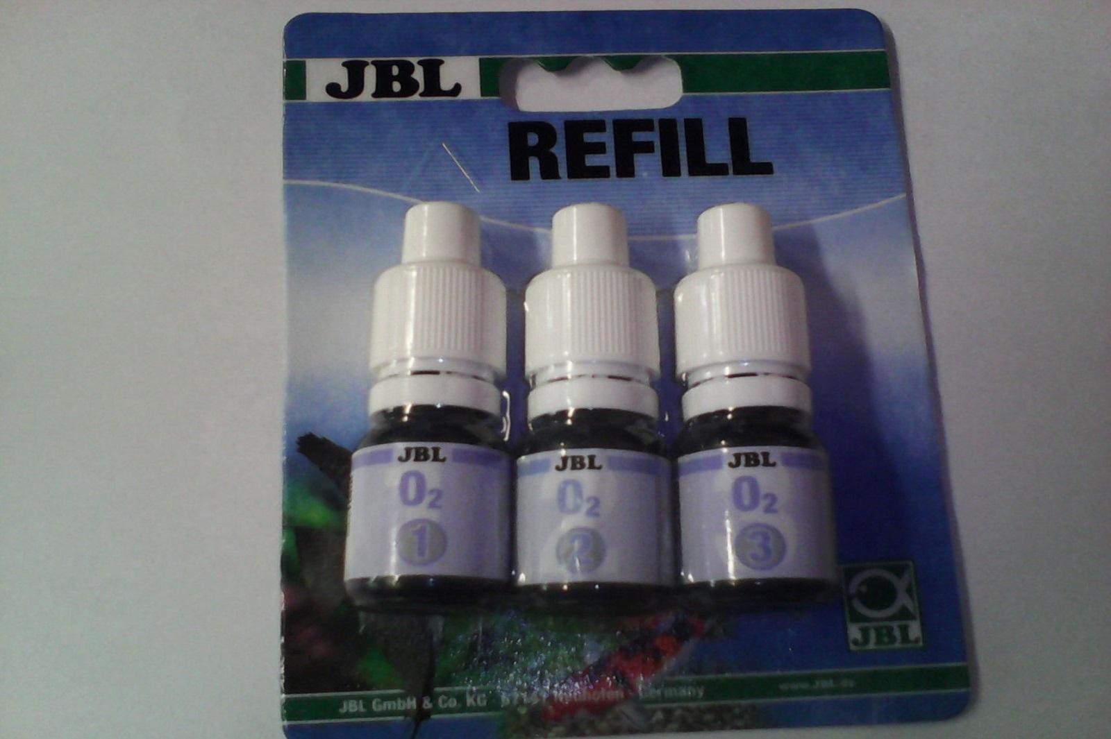 JBL O2 Sauerstoff  Wassertest für Teich und Aquarium Nachfüllpack mit 3 Reagens