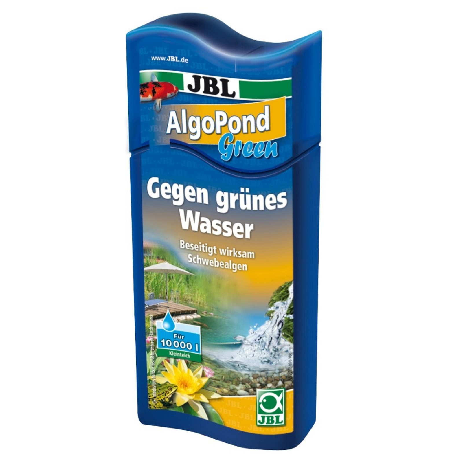 JBL AlgoPond Green 500 ml gegen grünes Wasser löst Algenprobleme