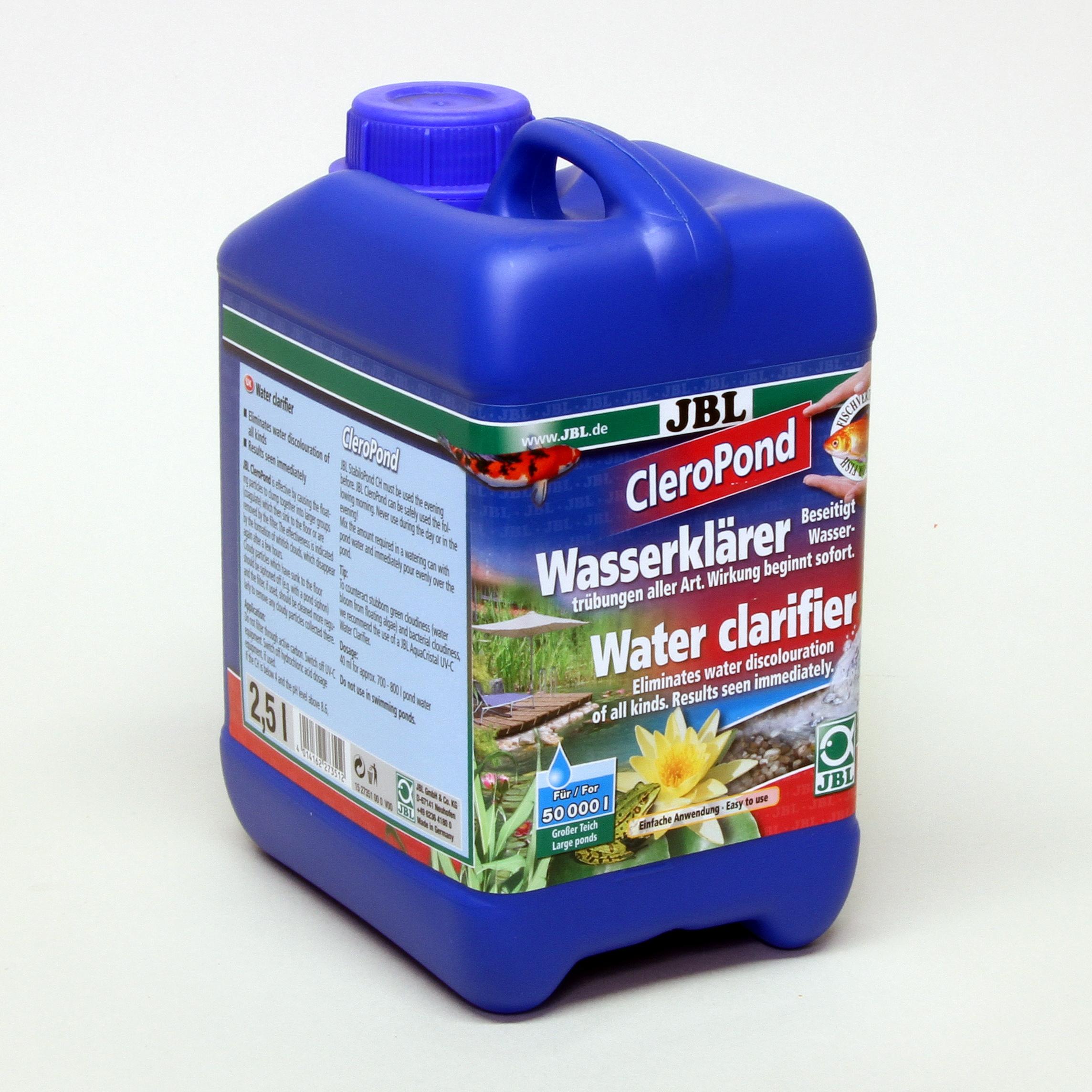 JBL CleroPond 2,5 l Wasserklärer bei Wassertrübungen für Gartenteiche