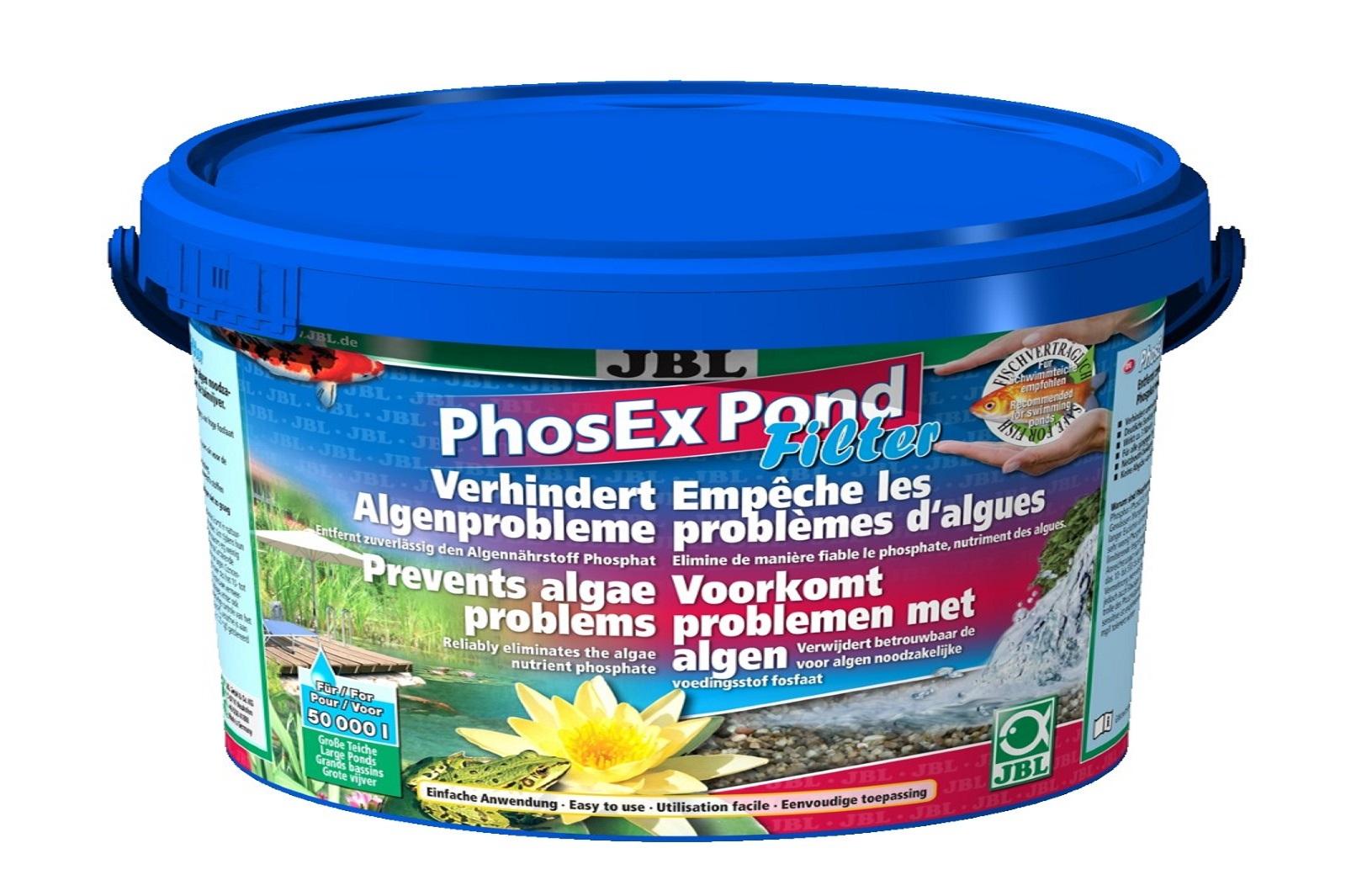 JBL PhosEX Pond  Filter 2,5 kg  Phosphatentferner f.Teichfilter Algenbeseitigung