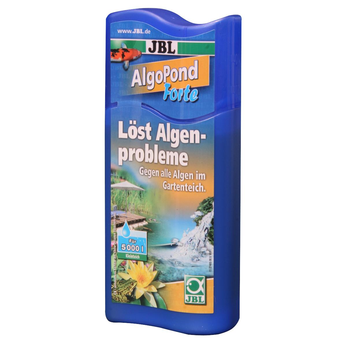 JBL AlgoPond Forte Wasseraufbereiter löst Algenprobleme für Gartenteiche 250 ml