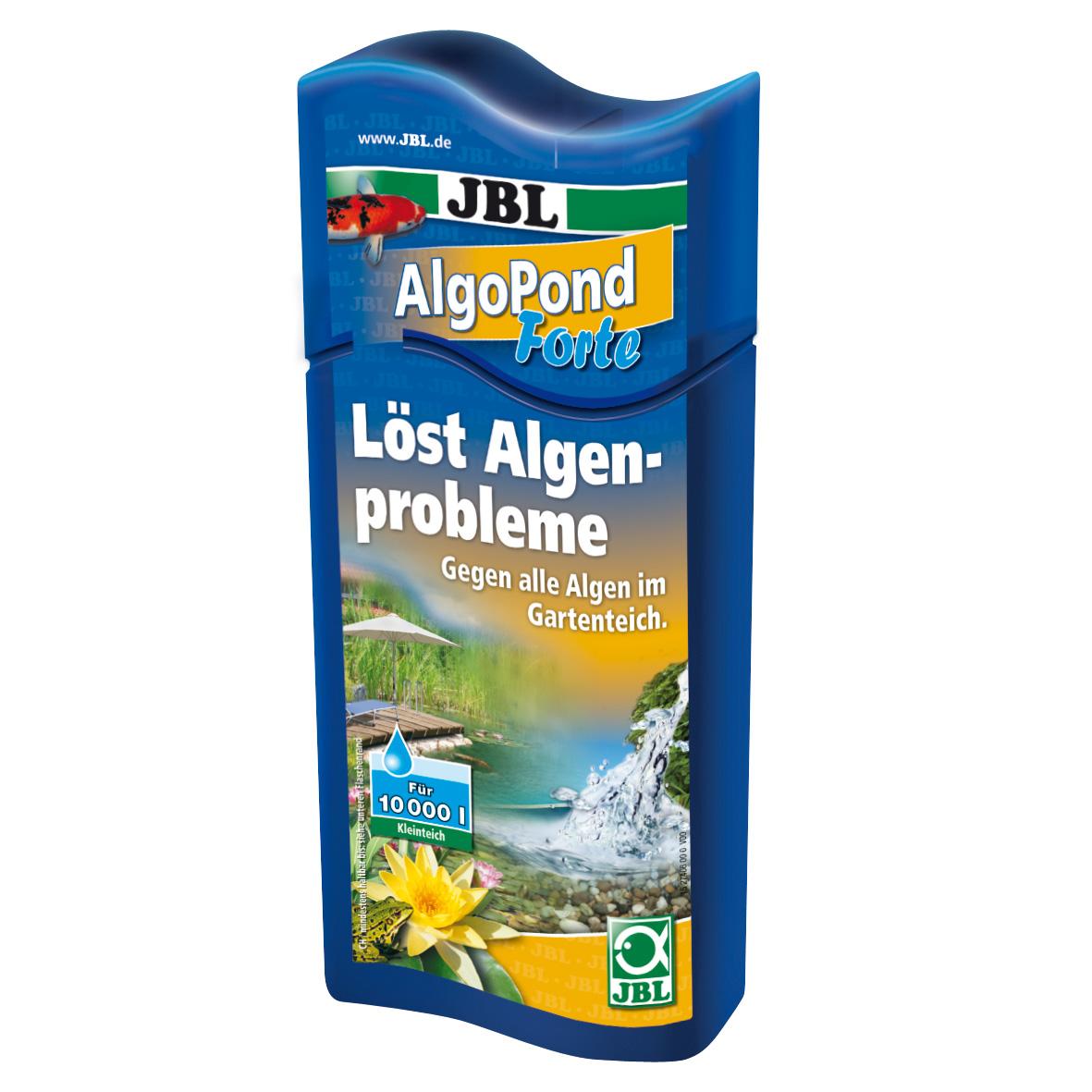 JBL AlgoPond Forte Wasseraufbereiter löst Algenprobleme für Gartenteiche 500 ml
