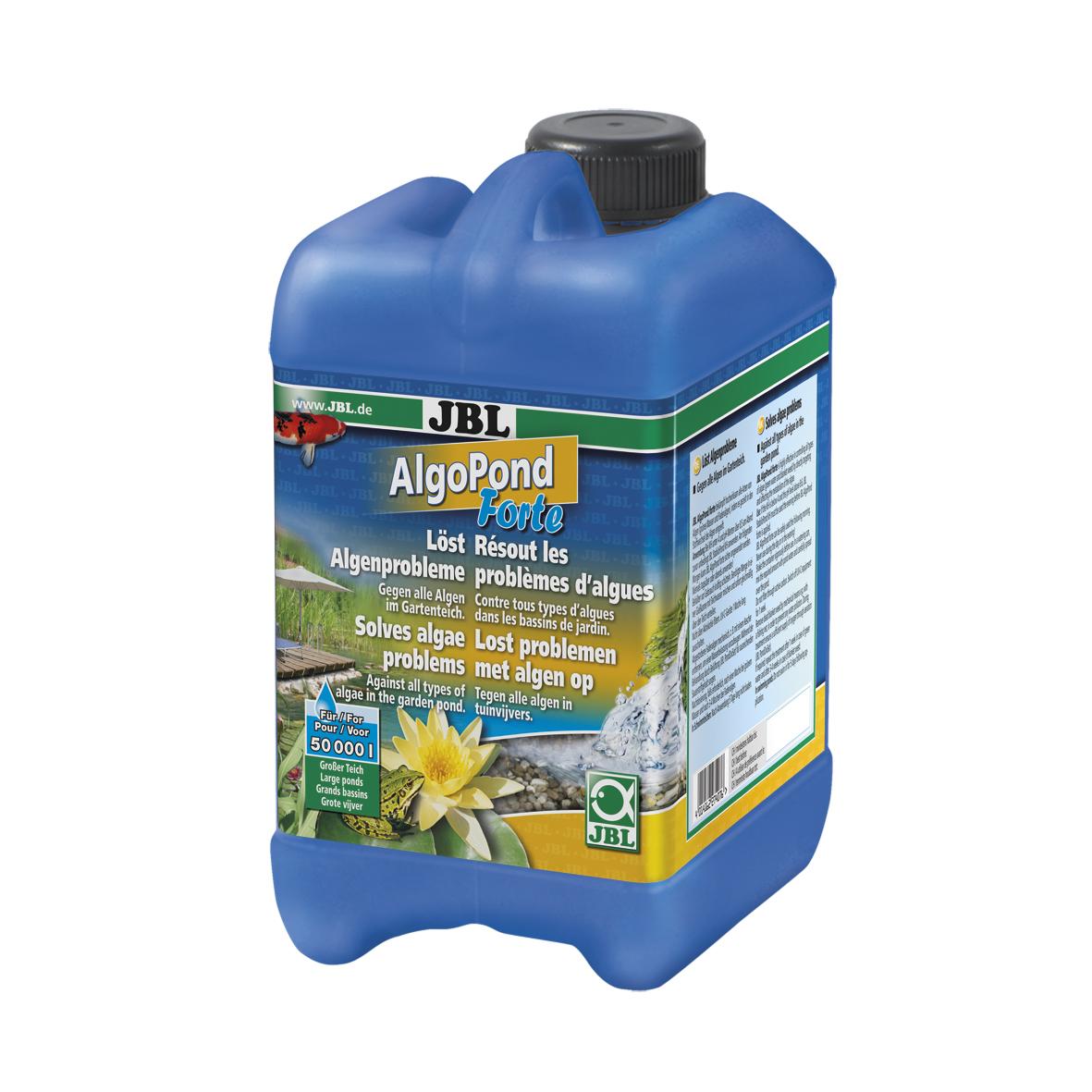 JBL AlgoPond Forte Wasseraufbereiter löst Algenprobleme für Gartenteiche 2,5 l