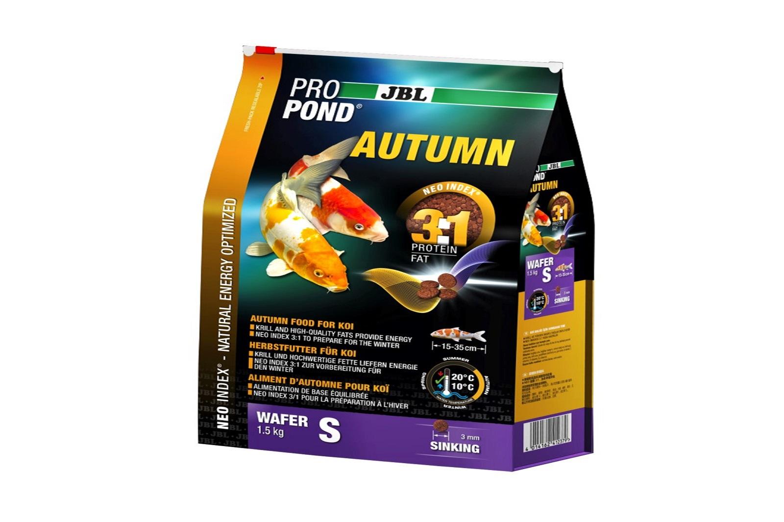 JBL ProPond Autumn S  Herbstfutter  für kleine Koi 1,5 Kg