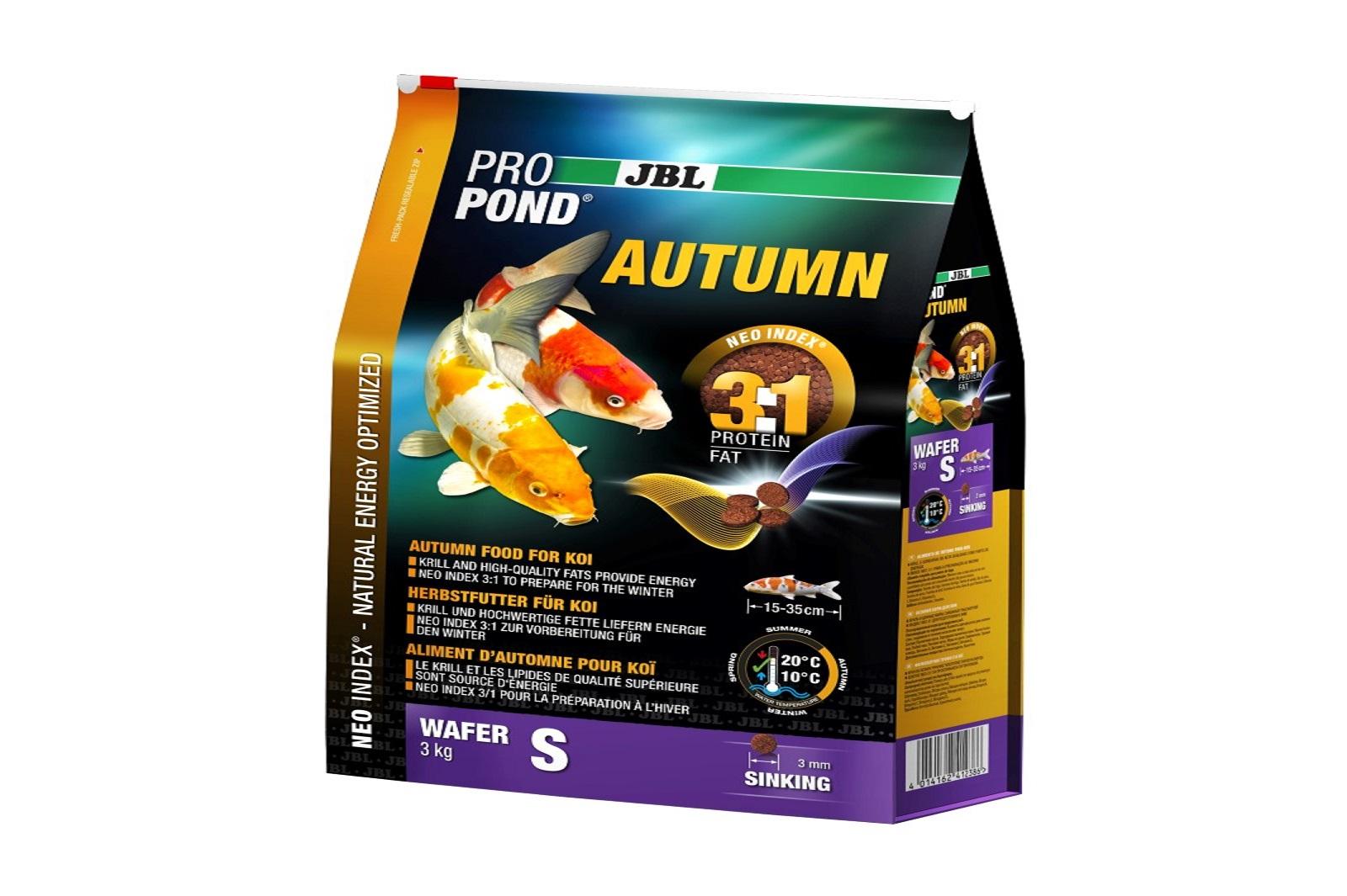 JBL ProPond Autumn S  Herbstfutter  für kleine Koi 3 Kg