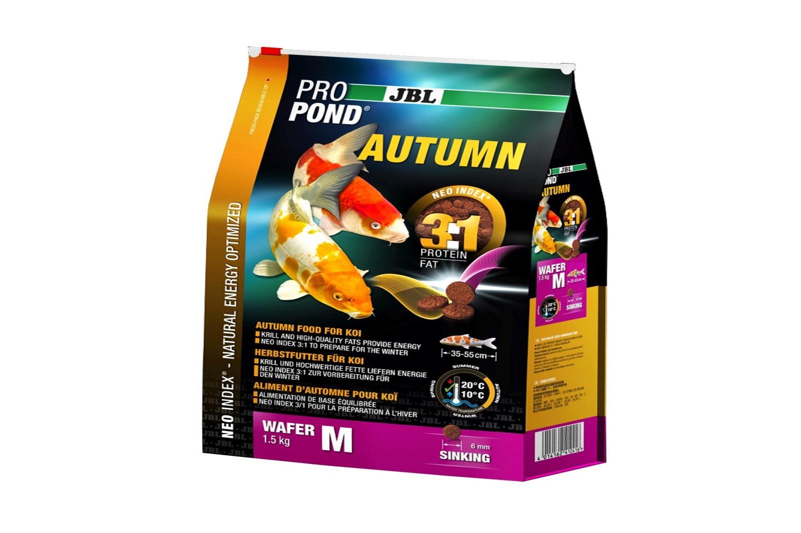 JBL ProPond Autumn M  Herbstfutter  für mittlere Koi 1,5 Kg