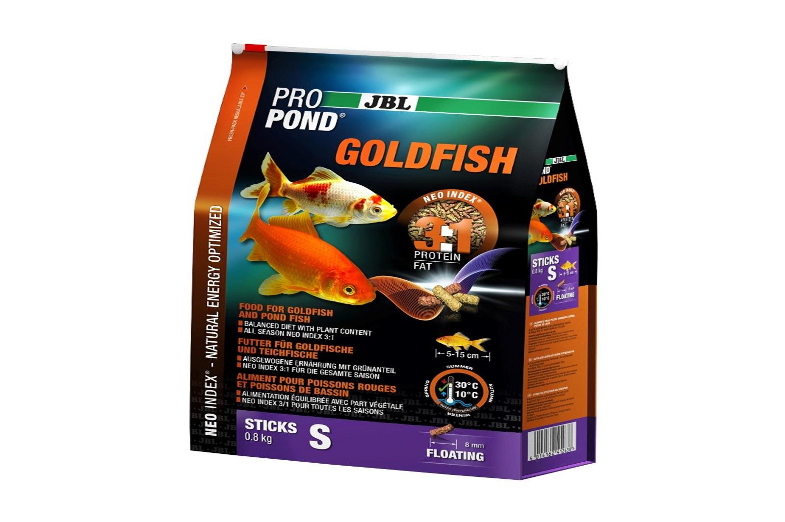 JBL ProPond Goldfish S Futtersticks 800 g Alleinfutter für kleine Goldfische