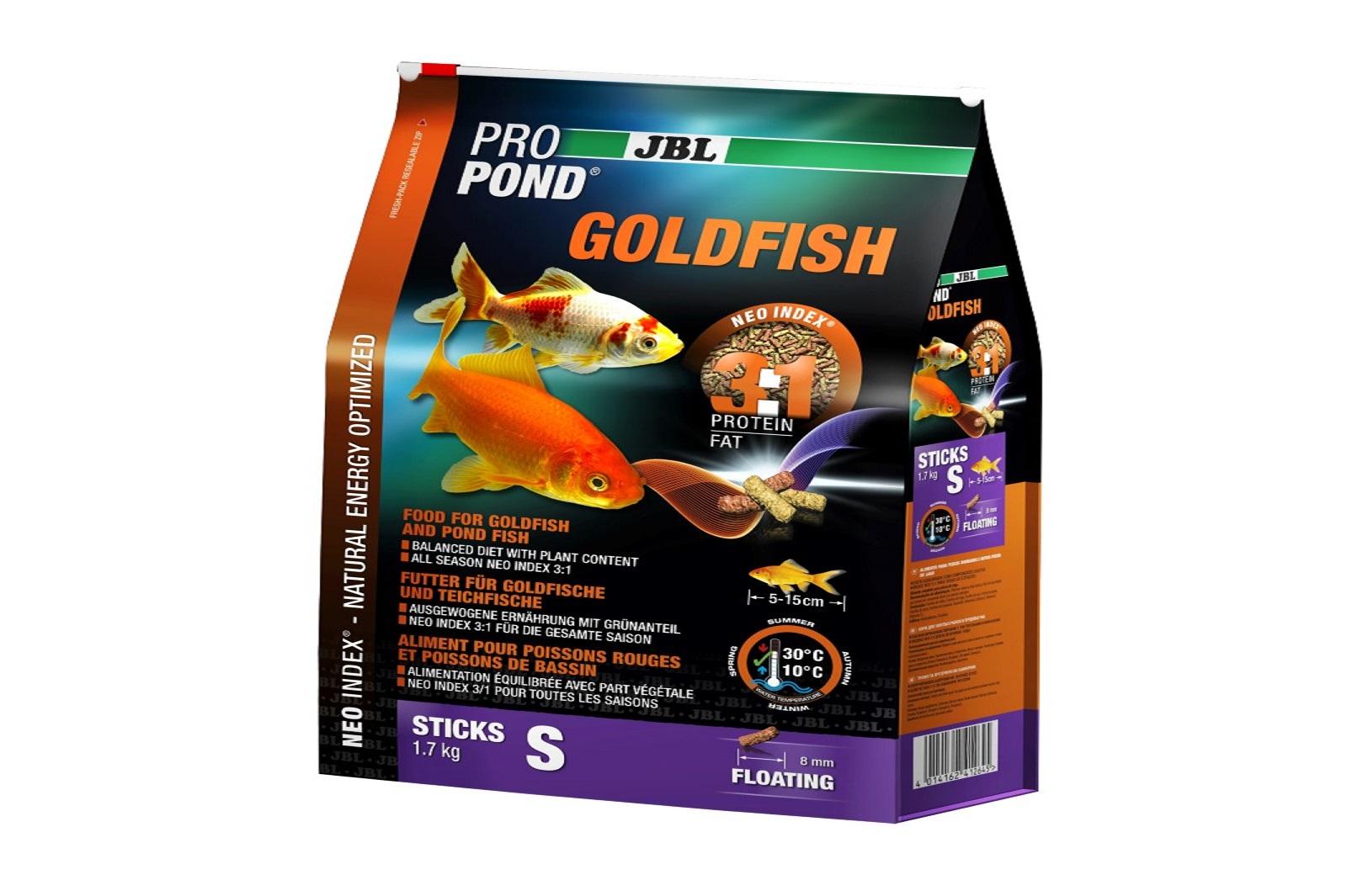 JBL ProPond Goldfish S Futtersticks 1,7 Kg Alleinfutter für kleine Goldfische
