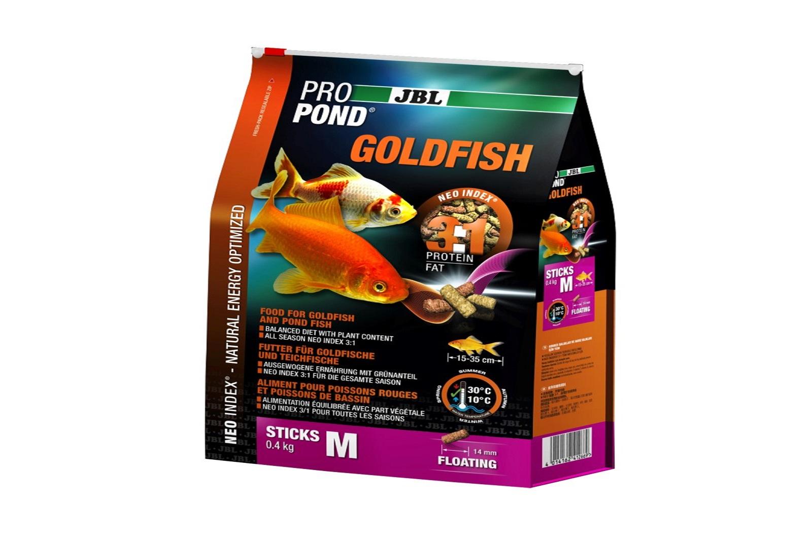 JBL ProPond Goldfish M Futtersticks 400 g Alleinfutter für mittlere  Goldfische