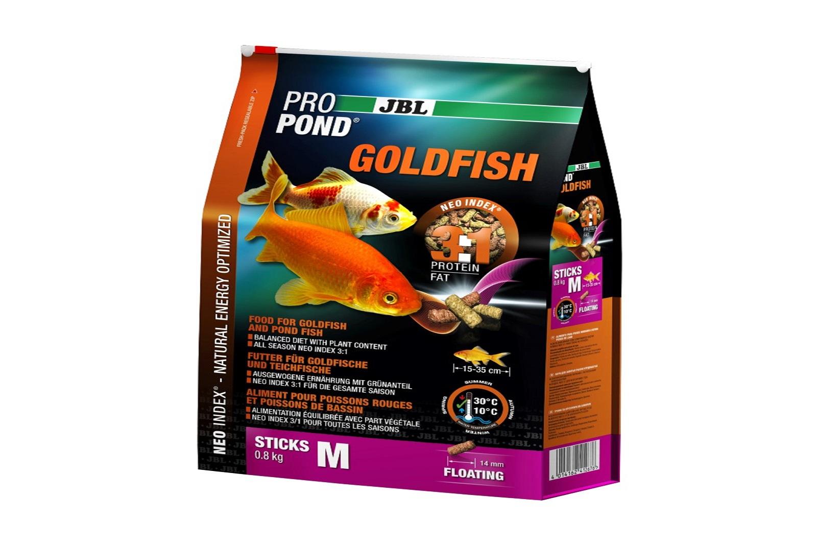 JBL ProPond Goldfish M Futtersticks 800 g Alleinfutter für mittlere  Goldfische
