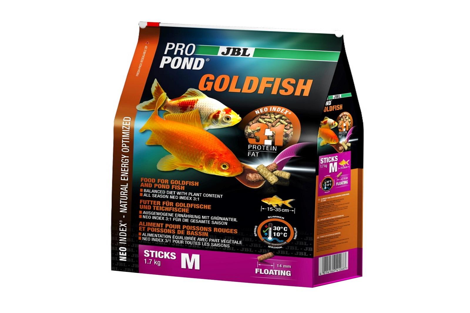 JBL ProPond Goldfish M Futtersticks 1,7 Kg Alleinfutter für mittlere  Goldfische