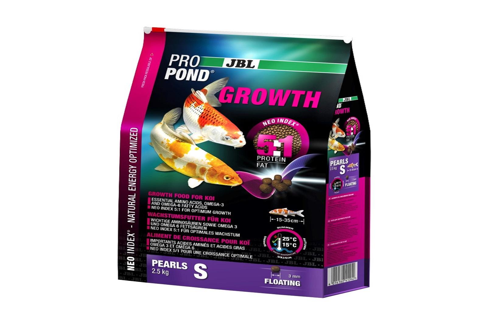 JBL ProPond Growth S Wachstumsfutter 2,5 Kg  für kleine Koi