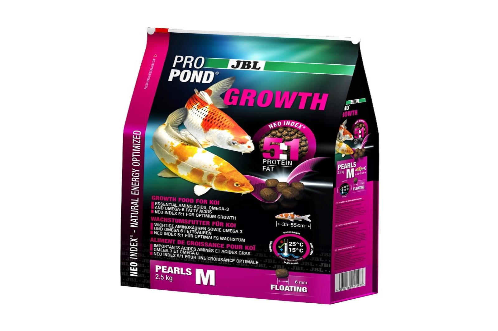 JBL ProPond Growth M Wachstumsfutter 2,5 Kg  für mittlere Koi