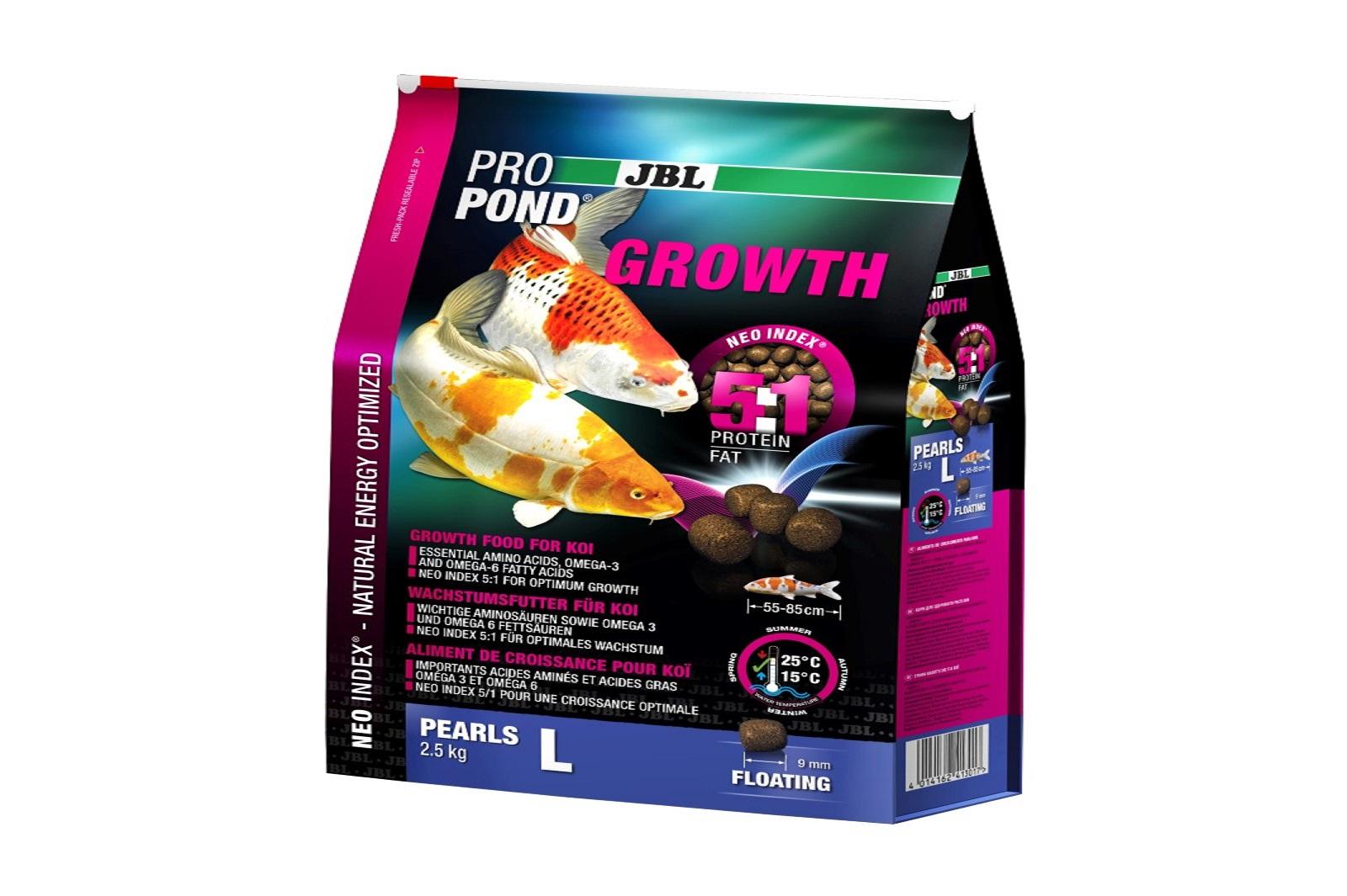JBL ProPond Growth Pearls L Wachstumsfutter 2,5 Kg  für große Koi