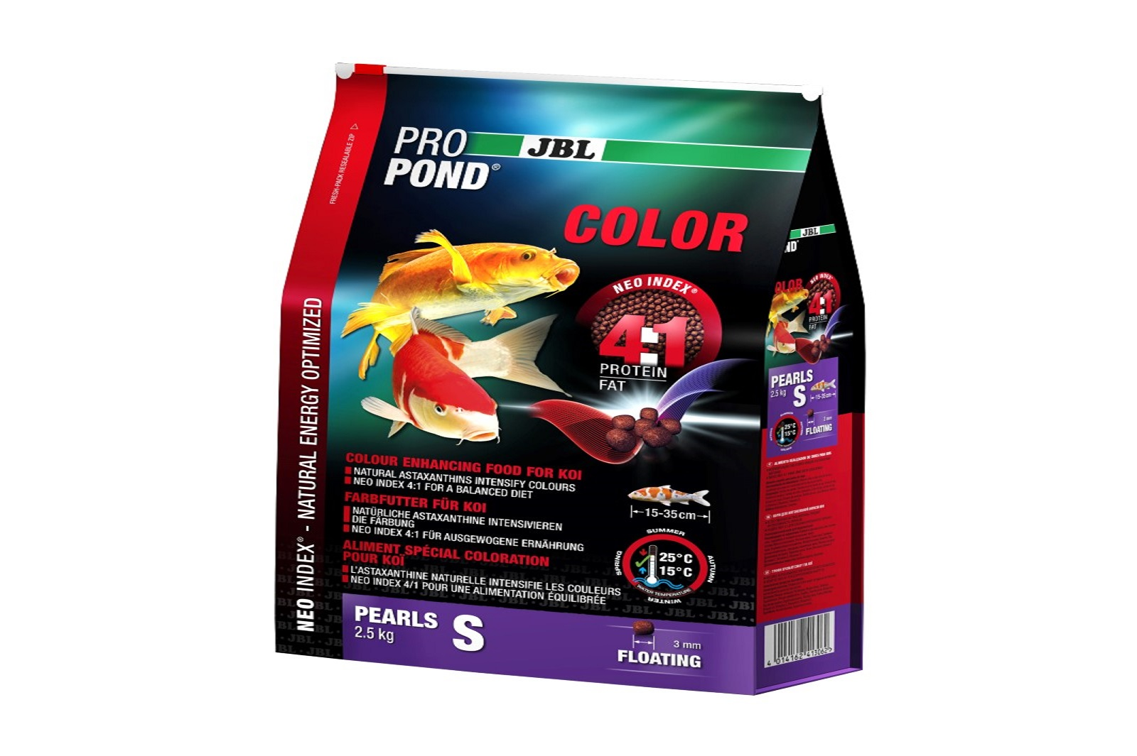JBL ProPond Color S Farbfutter 2,5 Kg  für kleine Koi