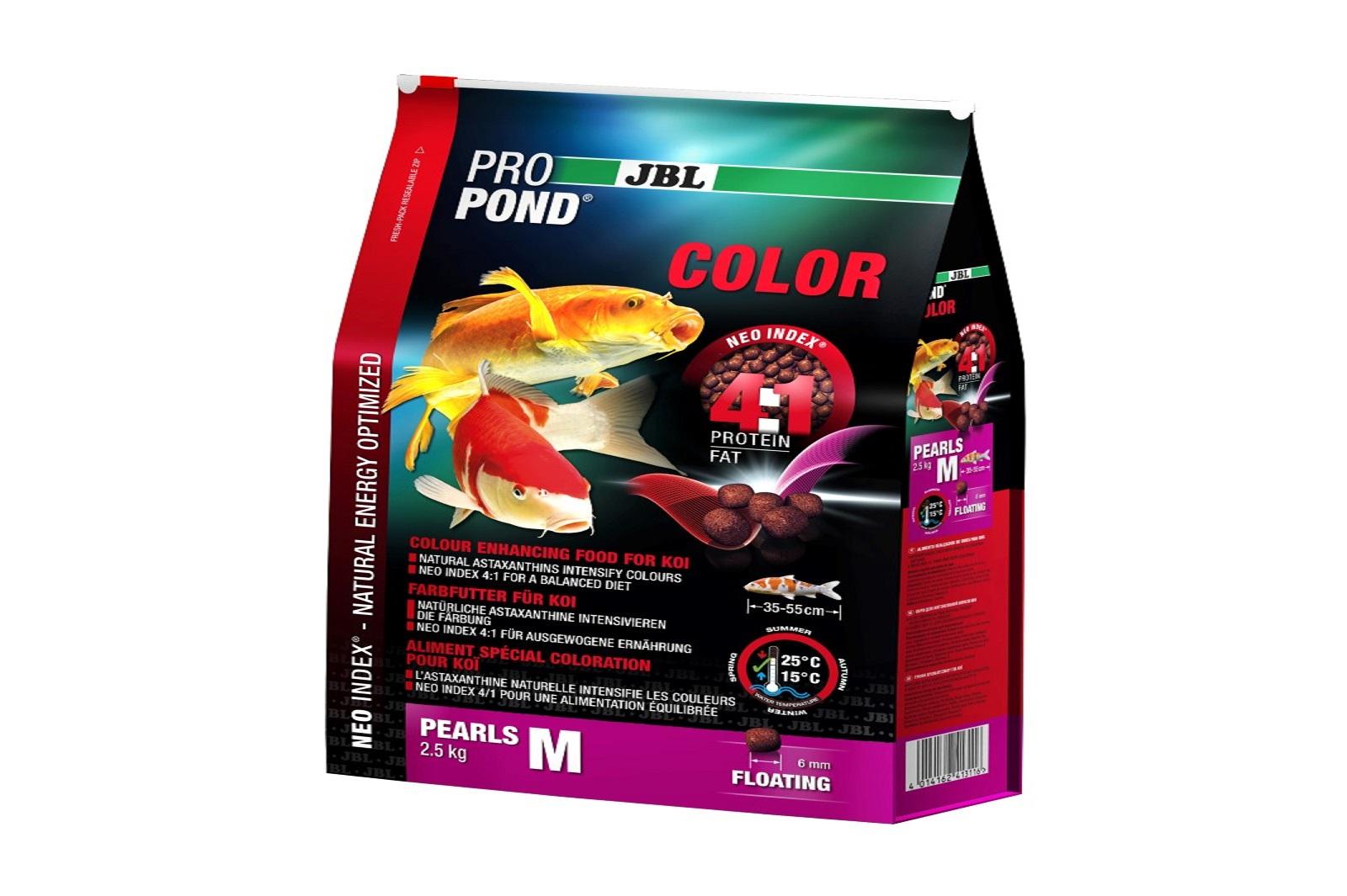 JBL ProPond Color M  Farbfutter 2,5 Kg  für mittlere Koi
