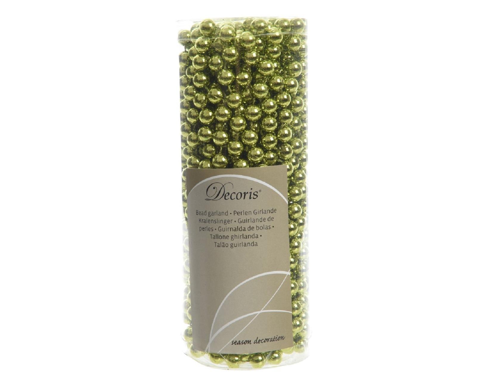 Perlenkette  Kunststoff Kette Perlengirlande Baumschmuck  10 m olivfarbig