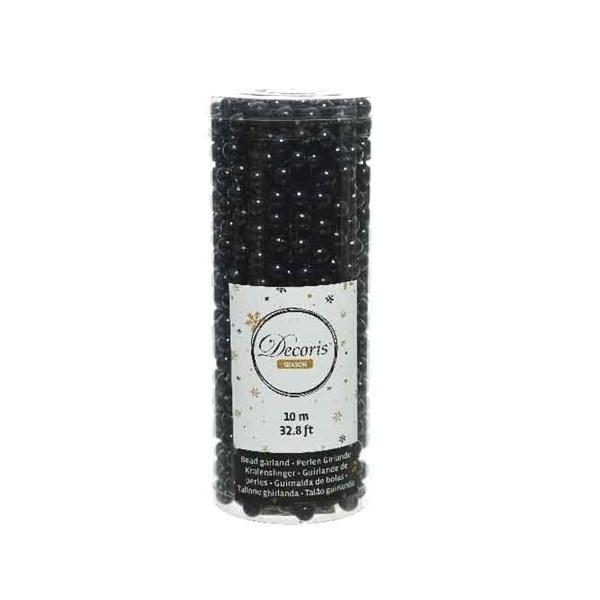 Perlenkette  Kunststoff Kette Perlengirlande Baumschmuck  10 m schwarz