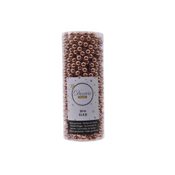 Perlenkette  Kunststoff Kette Perlengirlande Baumschmuck 10 m braun