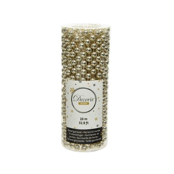 Perlenkette  Kunststoff Kette Perlengirlande Baumschmuck 10 m Champagner