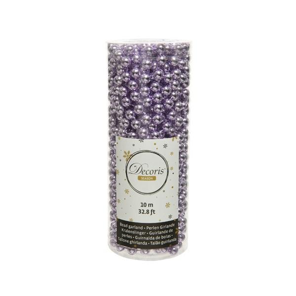 Perlenkette  Kunststoff Kette Perlengirlande Baumschmuck 10 m lila