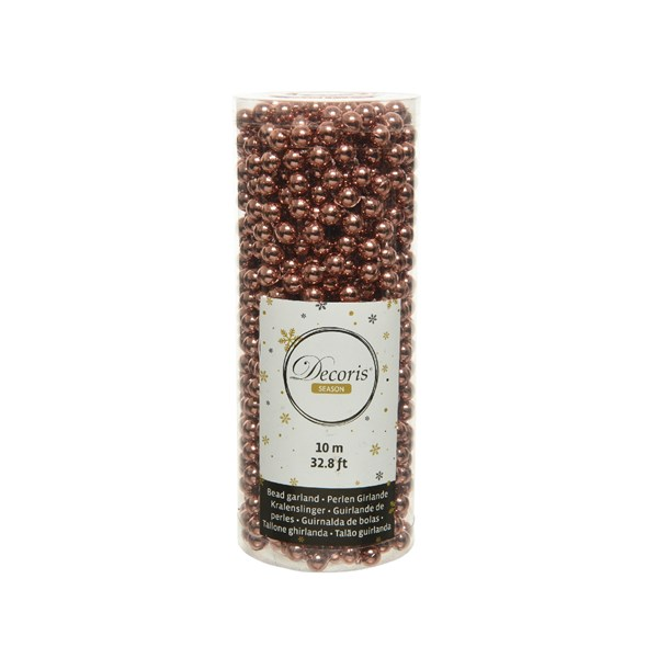Perlenkette  Kunststoff Kette Perlengirlande Baumschmuck 10 m terra