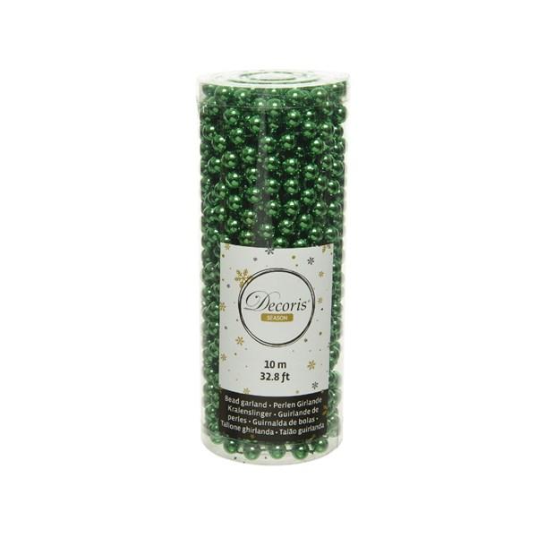 Perlenkette  Kunststoff Kette Perlengirlande Baumschmuck 10 m ilex grün