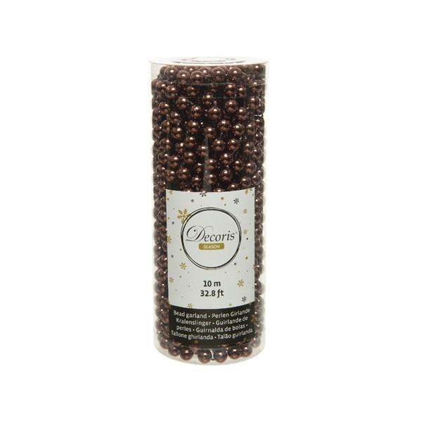 Perlenkette  Kunststoff Kette Perlengirlande Baumschmuck 10 m dunkelbraun