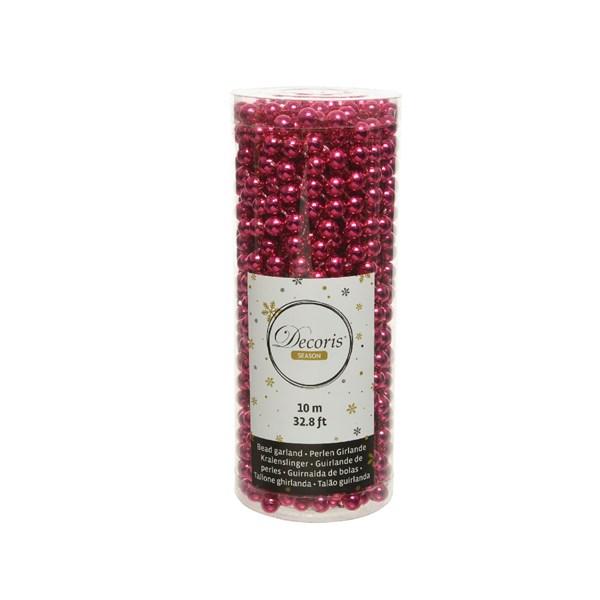 Perlenkette  Kunststoff Kette Perlengirlande Baumschmuck 10 m beeren rosa