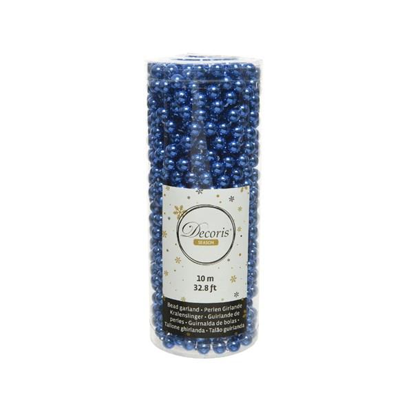 Perlenkette  Kunststoff Kette Perlengirlande Baumschmuck 10 m königs blau