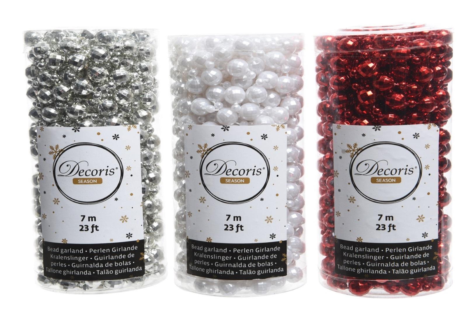 Perlenkette Kunststoff Disco  ca.1,0 x 700 cm.3 Ausführungen Stückpreis