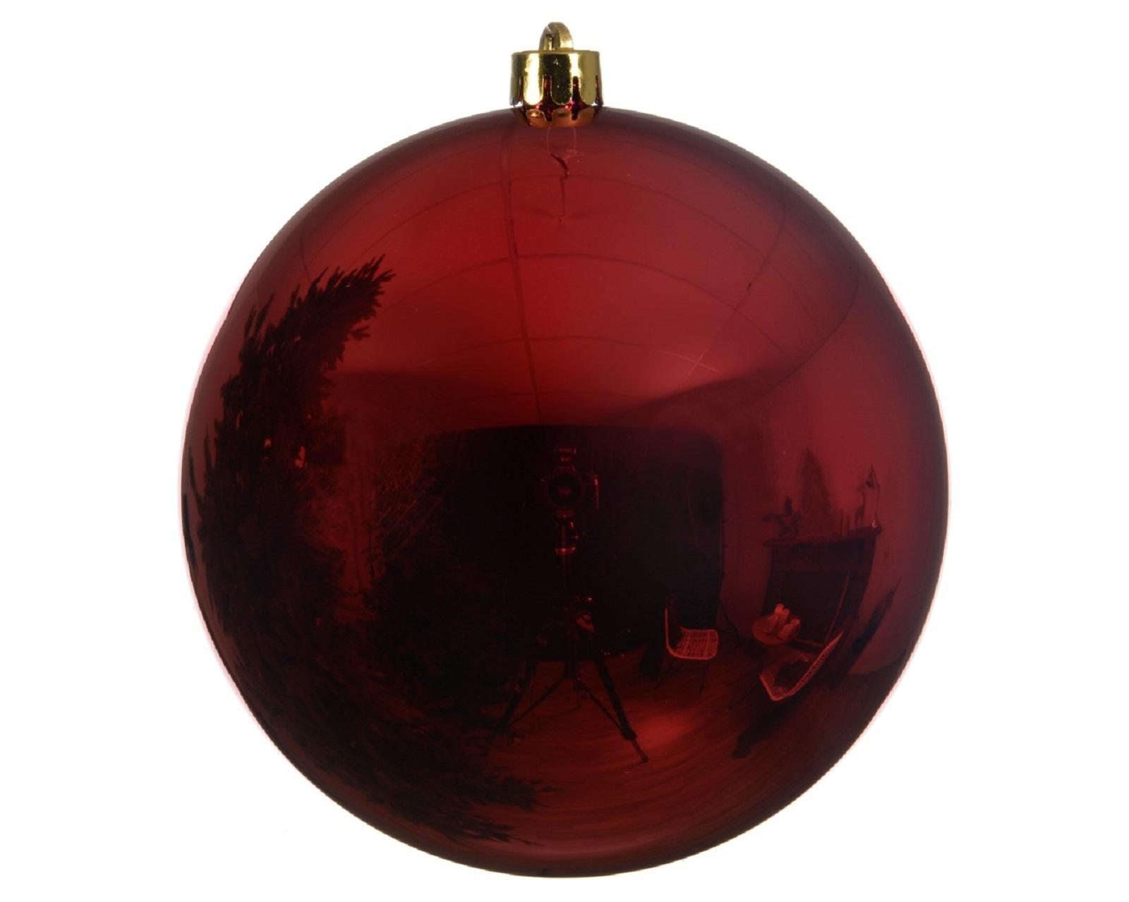Kugeln Weihnachtskugeln bruchfest  Weihnachtsdeko Baumschmuck rot  Ø 14 cm