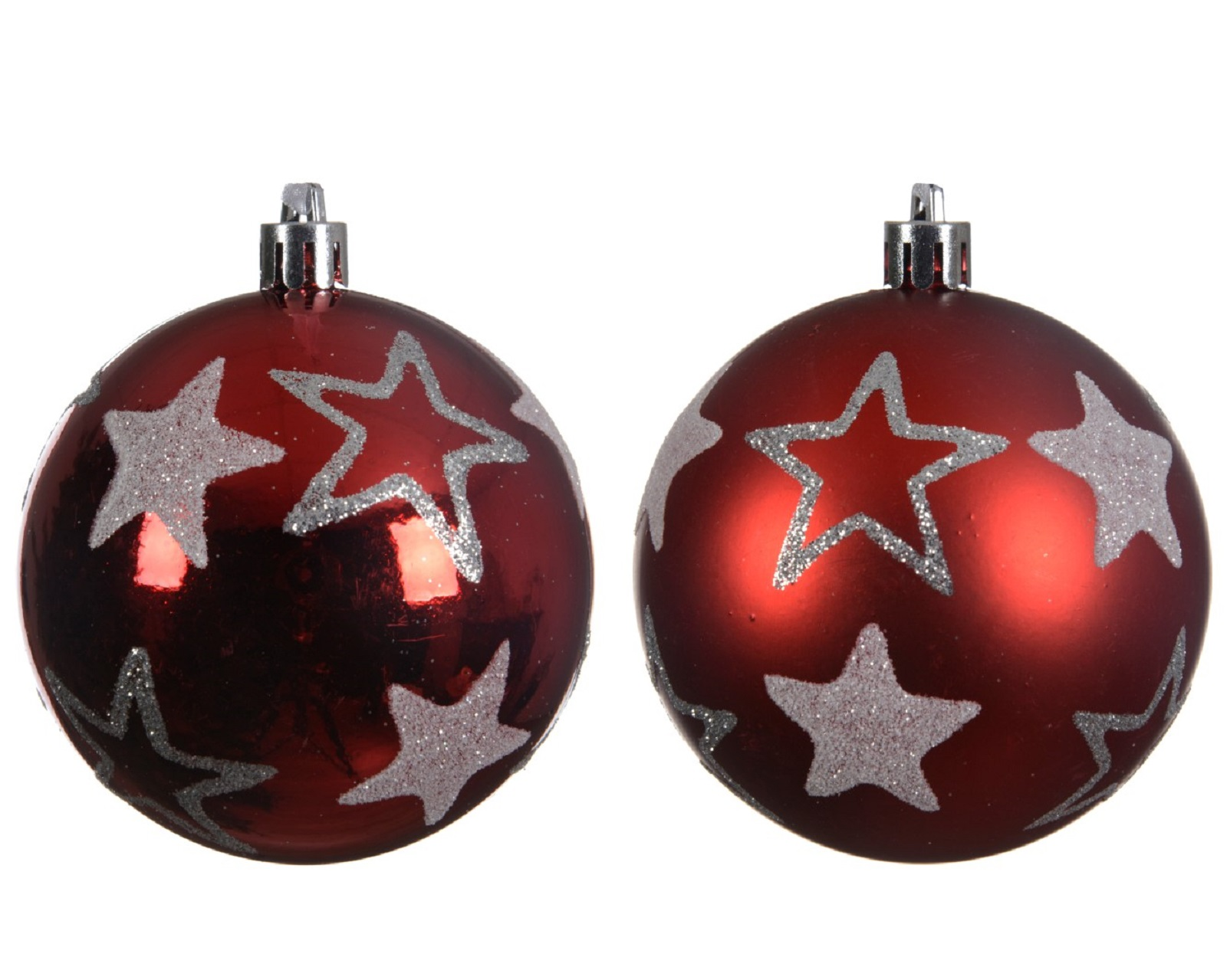 Weihnachtskugeln rot Matt und Glänzend 2er Set Bruchfest Baumkugeln Baumschmuck