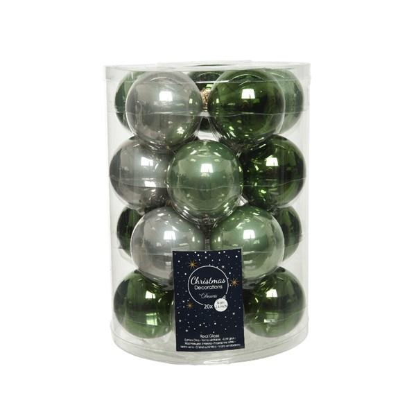 Glaskugeln Weihnachtskugeln Baumschmuck 20 Stück  Ø ca.6 cm grün mix