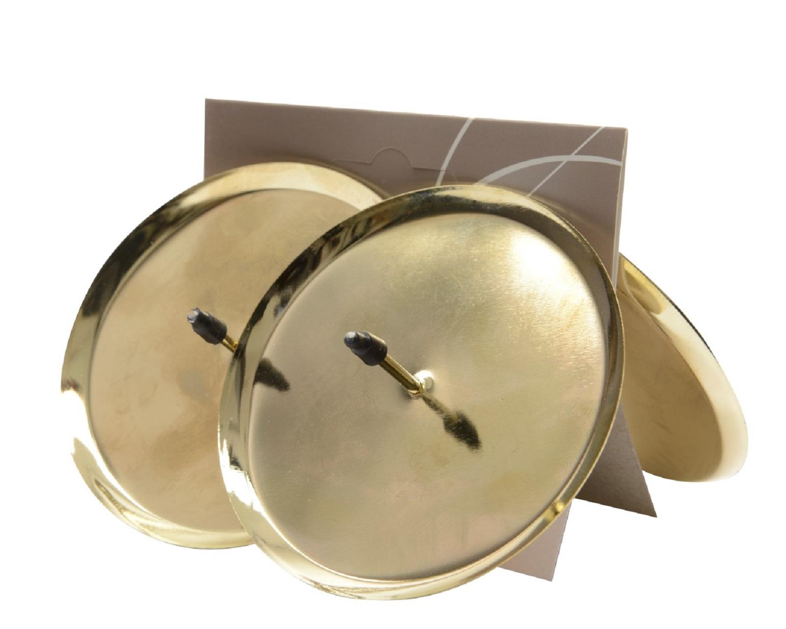 4 Stück Adventskerzenhalter 8cm gold Kerzenhalter Advent Kerzen Adventskranz