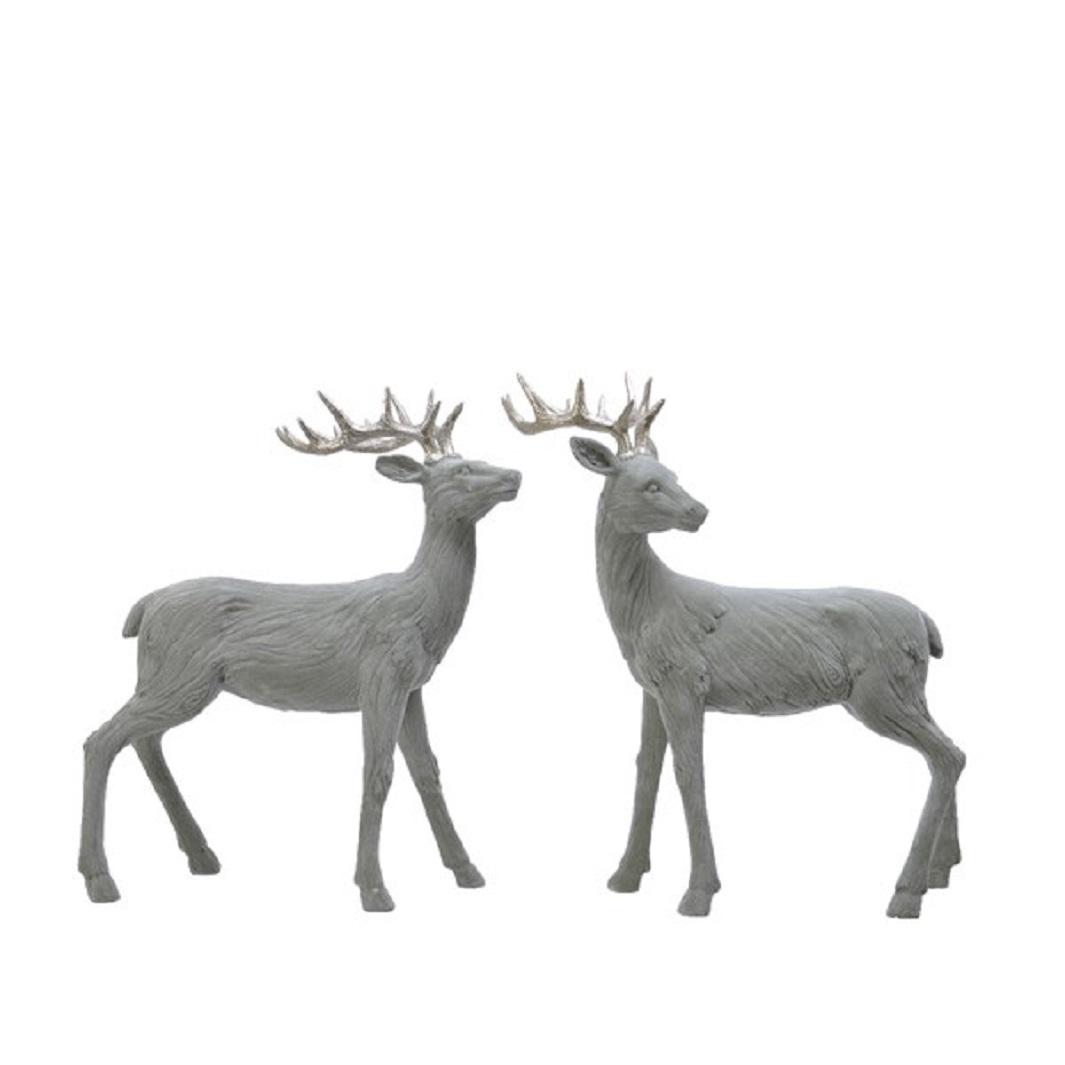 Hirsch Dekofigur Weihnachten Jagd Kunstoff grün 20x37x45 cm Stückpreis