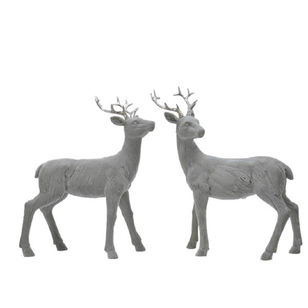 Hirsch Dekofigur Weihnachten Jagd Kunstoff grün 9x23x31 cm Stückpreis