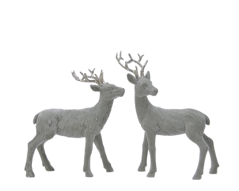 Hirsch Dekofigur Weihnachten Jagd Kunstoff grün 5x13x17 cm Stückpreis