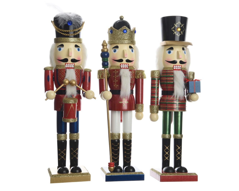 Nussknacker Dekofigur Weihnachten Holz rot H 38 Stückpreis