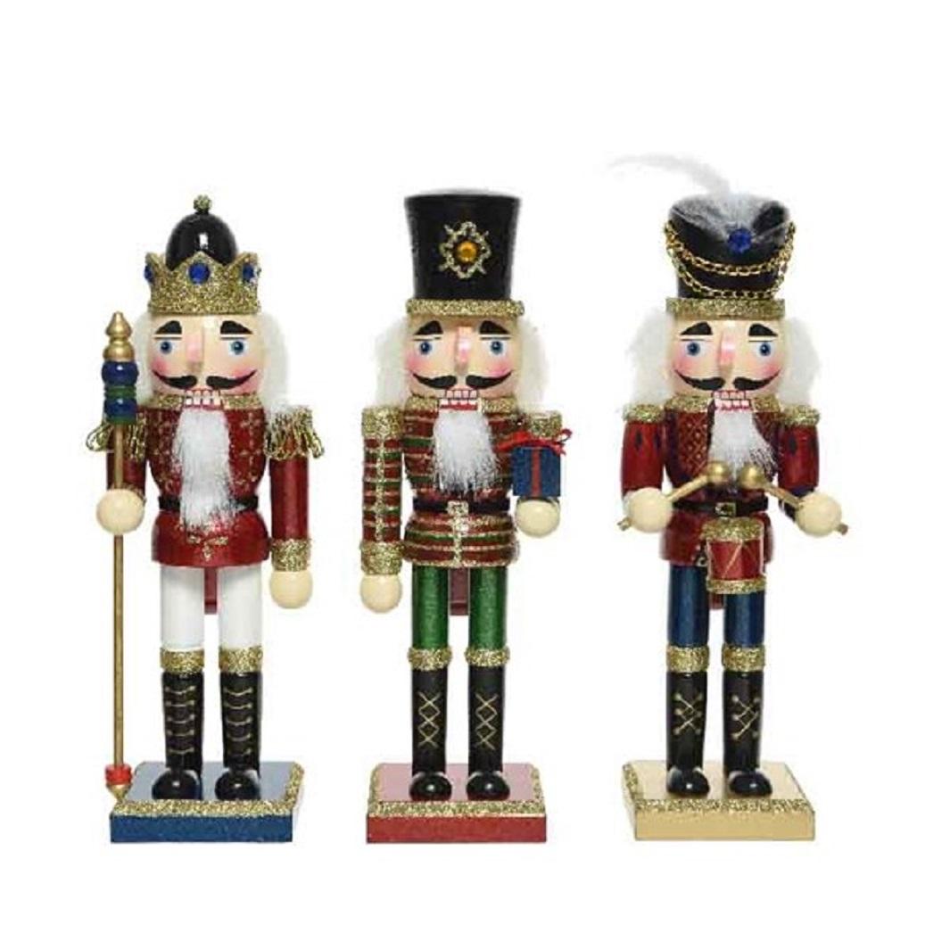 Nussknacker Dekofigur Weihnachten Holz rot H 25 Stückpreis
