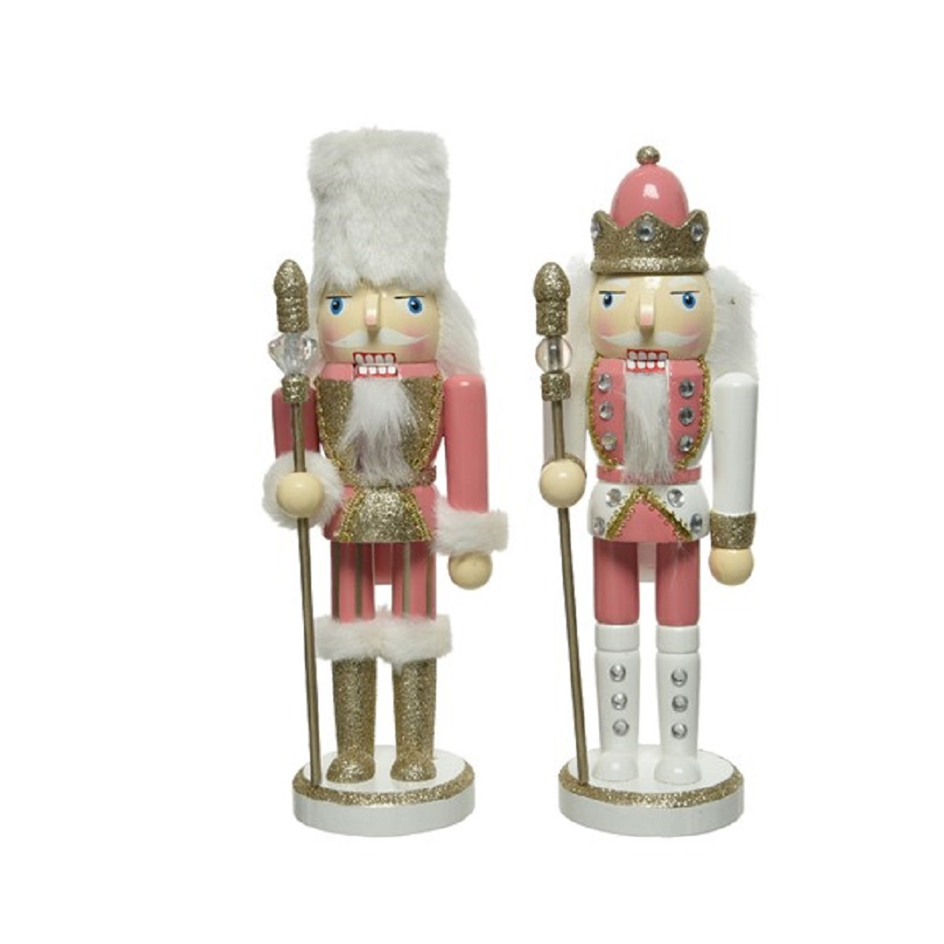 Nussknacker Dekofigur Weihnachten Holz pink H 25 Stückpreis