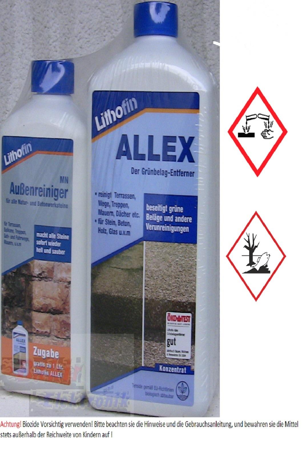 Lithofin ALLEX Grünbelagentferner plus 500 ml MN Aussenreiniger GRATIS