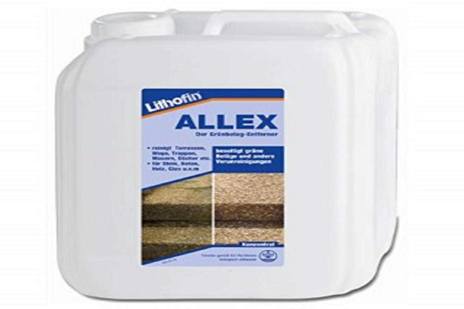 Lithofin ALLEX Grünbelagentferner Mosentferner Algenbeseitigung Konzentrat 10 l