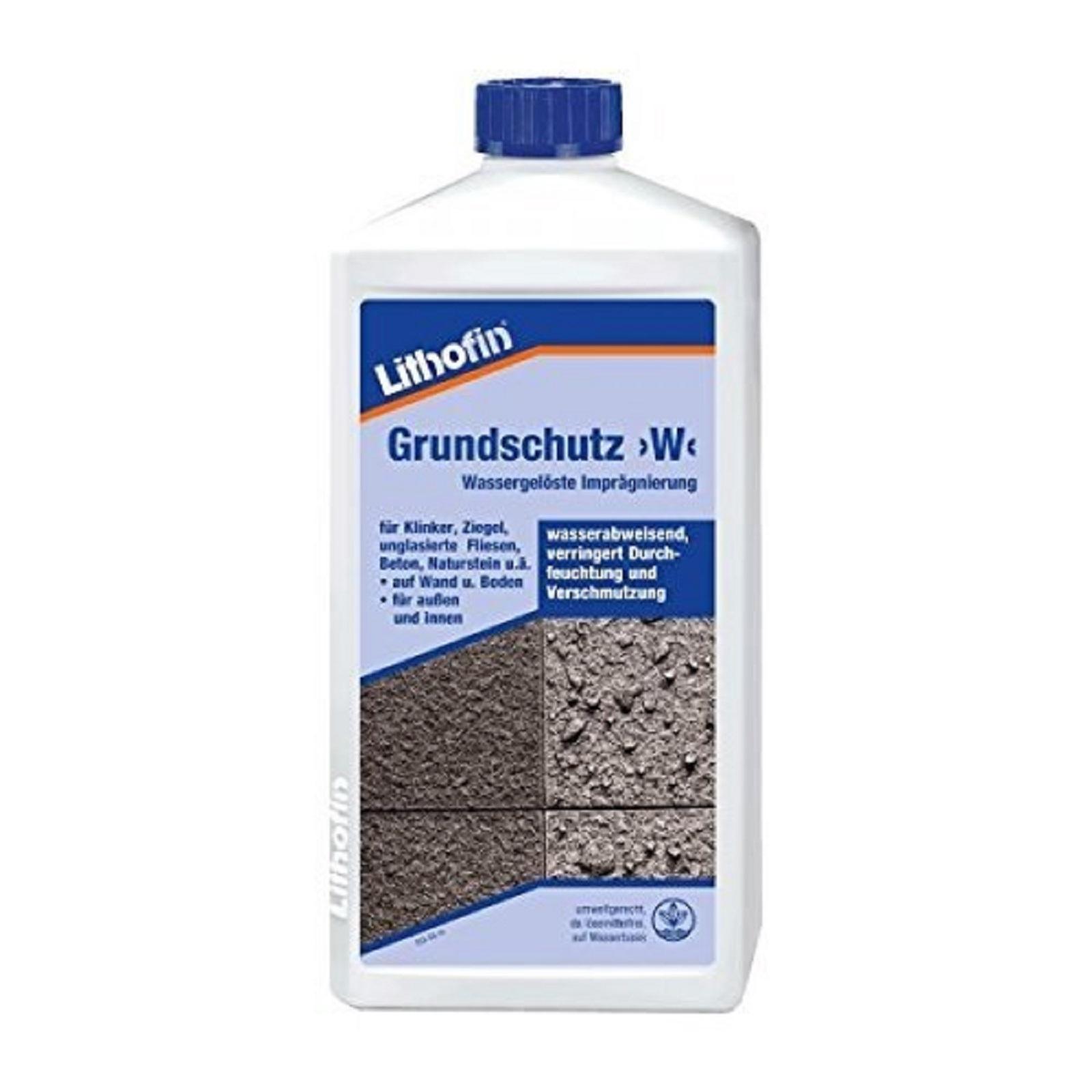 Lithofin Grundschutz>W< Wassergelöste Imprägnierung 1 Liter